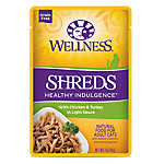 Wellness® Healthy Indulgence Shreds Adult Cat Food - Grain Free, Natural, Chicken & Turkey