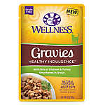 Wellness® Healthy Indulgence Gravies Adult Cat Food - Grain Free, Natural, Chicken & Turkey