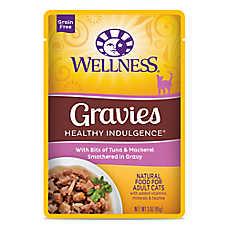 Wellness® Healthy Indulgence Gravies Adult Cat Food - Grain Free, Natural, Tuna & Mackerel