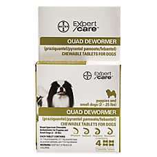 Bayer Expert Care™ Dog Quad Dewormer Chewable Tablets - 2 Pack