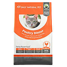 Only Natural Pet Feline PowerFood Cat Food- Limited Ingredient, Natural, Grain Free, Poultry