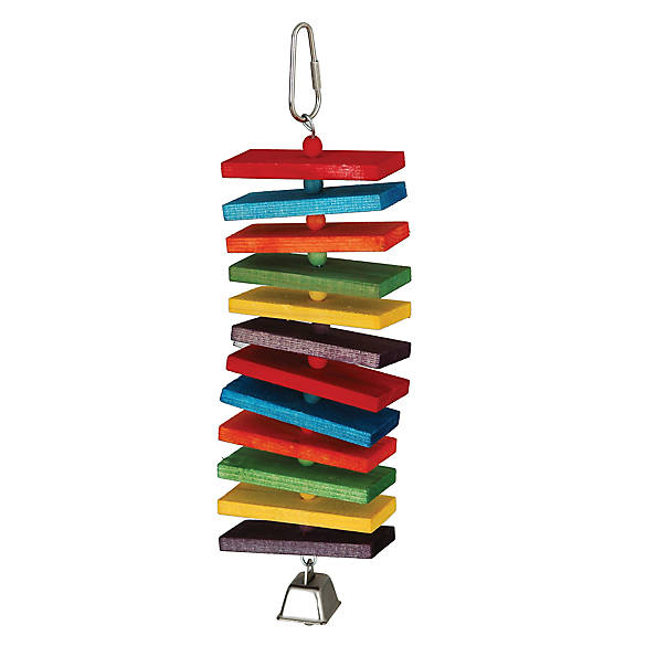 All Living Things 174 Multi Colored Spiral Bird Toy Bird