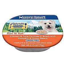 Natural Balance Delectable Delights Adult Dog Food - Grain Free, Surf 'N Turf