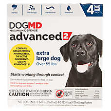 Dog MD Maximum Defense™ Advanced 2 for Over 55 lbs Flea Treatment