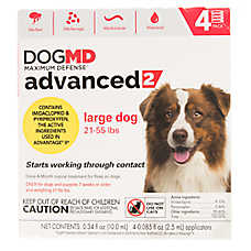 Dog MD Maximum Defense™ Advanced 2 for 21-55 lbs Flea Treatment