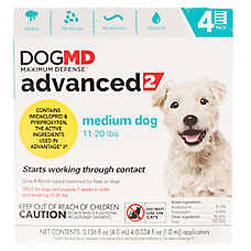 Dog MD Maximum Defense™ Advanced 2 for 11-20 lbs Flea Treatment