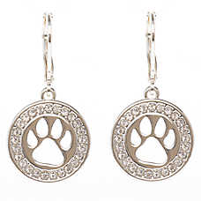 Pet Friends Paw Print Drop Earrings