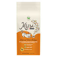 Muse® Adult Cat Food - Grain Free, Gluten Free, Essential Nutrients, Natural Chicken, Egg & Pumpkin