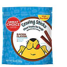 Grreat Choice® Craving Sticks Dog Treat - Bacon