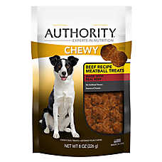 Authority® Chewy Dog Treat - Beef Meatball