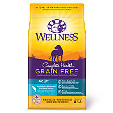Wellness® Complete Health Adult Dog Food - Natural, Grain Free, Whitefish & Menhaden Fish Meal