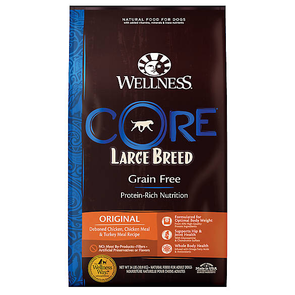 Wellness 174 Core 174 Large Breed Adult Dog Food Natural