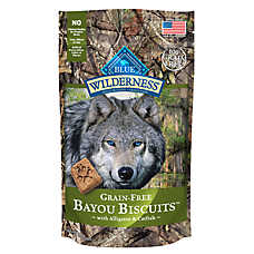 BLUE Wilderness® Bayou Biscuits Dog Treat - Grain Free, Gluten Free, Alligator & Catfish