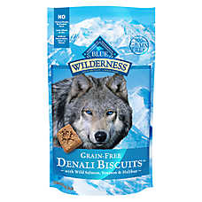 BLUE Wilderness® Denali Biscuits Dog Treat - Grain Free, Gluten Free, Salmon, Venison & Halibut