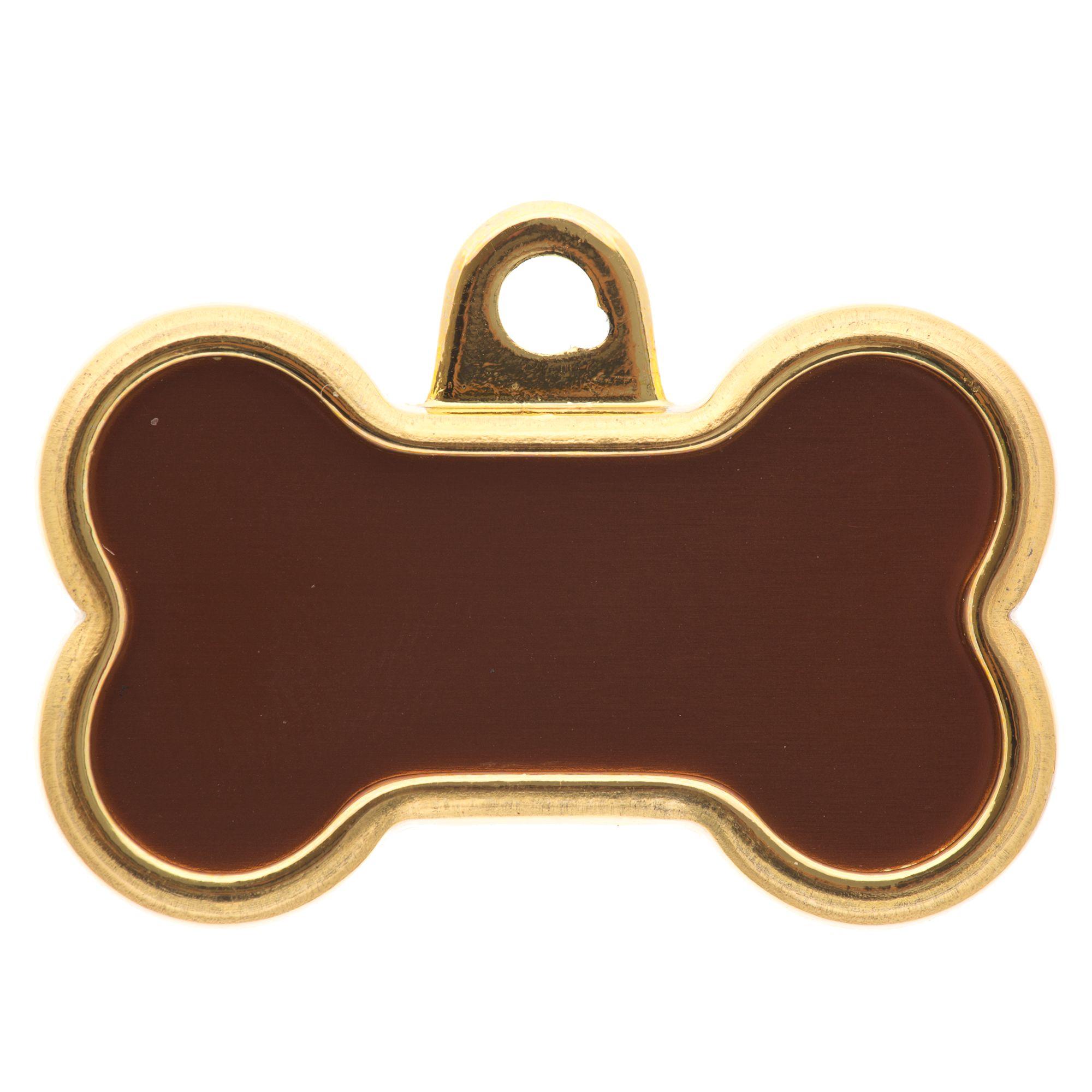 Gold Bone Personalized Pet Id Tag