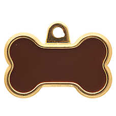 TagWorks® Elegance Collection Gold Bone Personalized Pet ID Tag