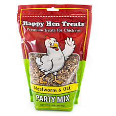 Happy Hen Treats Mealworm and Oat Party Mix Chicken Treats
