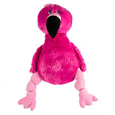 Top Paw® Play Flamingo Plush Dog Toy