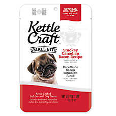Kettle Craft Small Bite Dog Treat - Natural, Bacon
