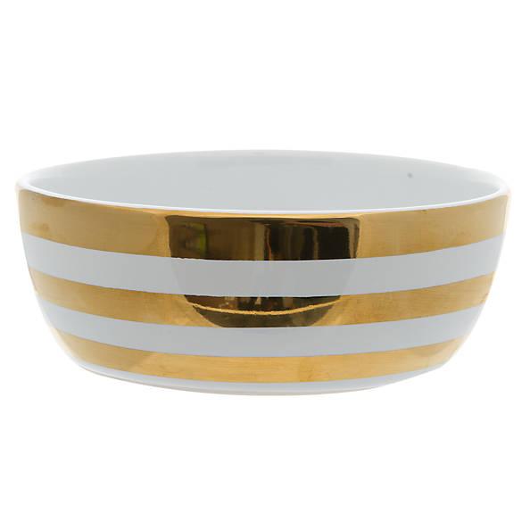 Top paw stripe dog bowl dog food water bowls petsmart for Fish bowl petsmart