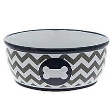 Top Paw® Chevron Bone Dog Bowl