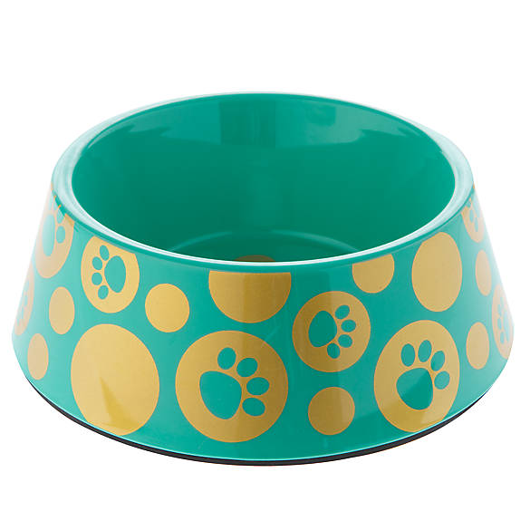Top paw glitz paws dog bowl dog food water bowls for Fish bowl petsmart