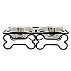 Top Paw® Steel Bone Dog Bowl