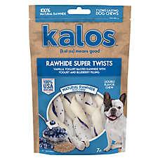 Kalos Rawhide Super Twists Dog Treat - Vanilla & Blueberry
