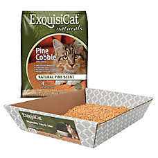 ExquisiCat® Naturals Disposable Litter Tray & Cat Litter