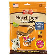 Nylabone® Nutri Dent Complete 3 Point Small Dog Dental Chew - Filet Mignon