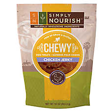 Simply Nourish™ Chewy Jerky Dog Treat - Natural, Grain Free, Gluten Free, Chicken