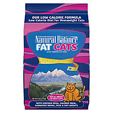 Natural Balance Fat Cats Adult Cat Food - Weight Control, Chicken Meal, Salmon Meal & Garbanzo Beans