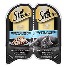 SHEBA® Perfect Portions Cat Food -  Whitefish & Tuna