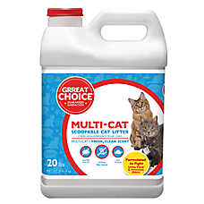 Grreat Choice® Multi-Cat Scoopable Cat Litter