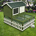 WARE® Ranch Hutch and Outdoor Pen Combo