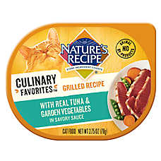 Nature's Recipe® Culinary Favorites Grilled Cat Food - Natural, Tuna & Vegetables