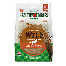 Nylabone® Healthy Edibles® Venison Antlers Dog Treats - 10 Pack