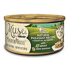 Muse® MasterPieces Adult Cat Food - Essential Nutrients, Natural Pheasant, Spinach & Sweet Potato