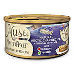 Muse® MasterPieces Adult Cat Food - Essential Nutrients, Natural Artic Char, Tomatoes & Spinach