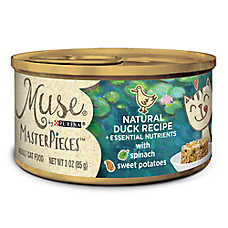 Muse® MasterPieces Adult Cat Food - Essential Nutrients, Natural Duck, Spinach & Sweet Potatoes