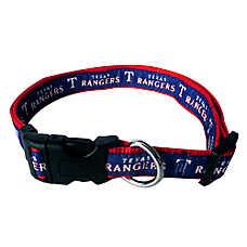 Texas Rangers MLB Dog Collar