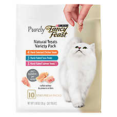 Purely Fancy Feast® Cat Treat - Natural, Variety Pack