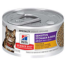 Hill's® Science Diet® Sensitive Stomach & Skin Adult Cat Food - Chicken & Vegetable