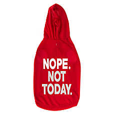 """Grreat Choice® """"Nope Not Today"""" Dog Hoodie"""