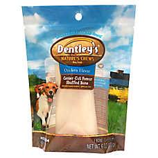 Dentley's® Nature's Chews Center Cut Femur Stuffed Bone Medium Dog Treat - Chicken