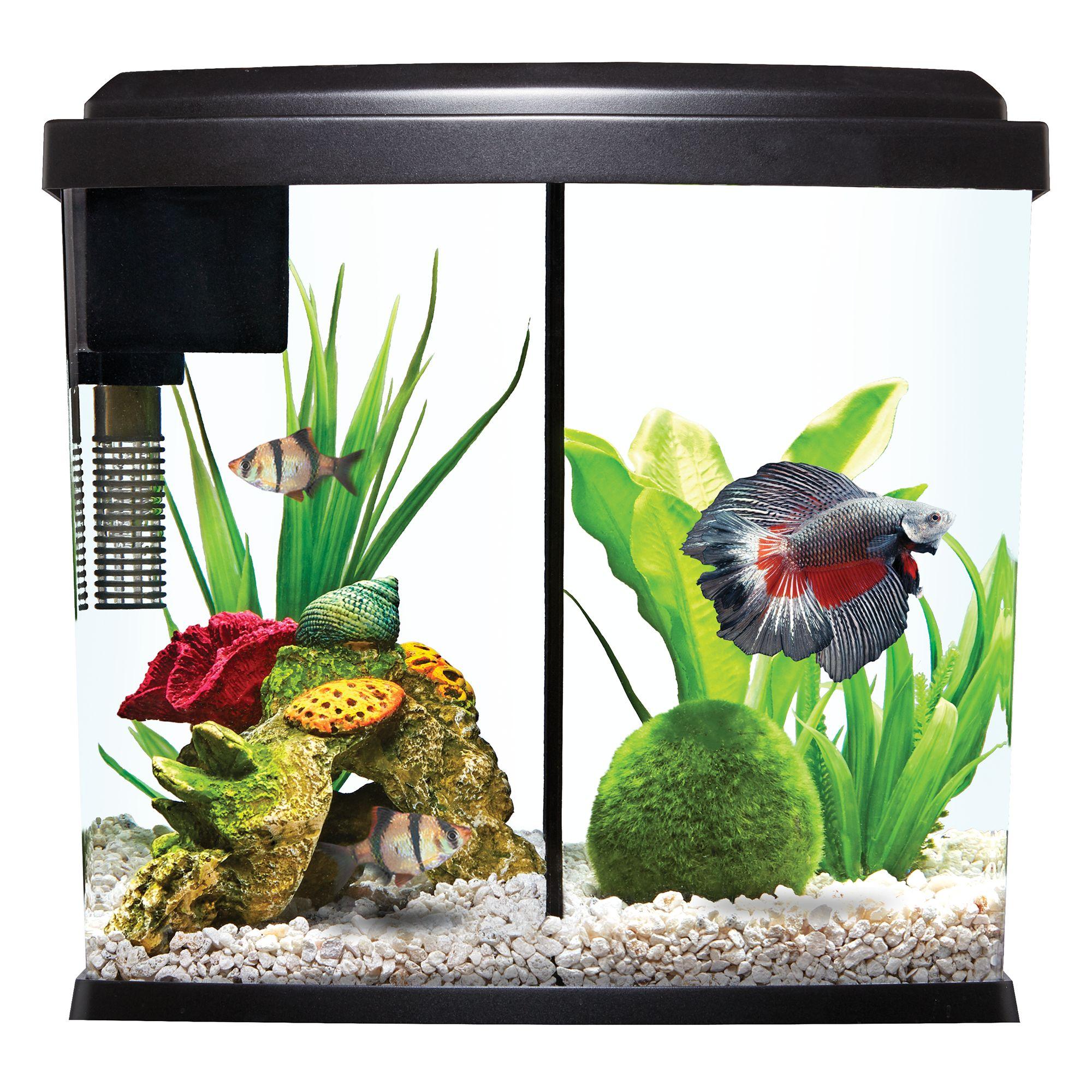Top Fin Liquidy Split Aquarium Kit Fish Starter Kits Petsmart