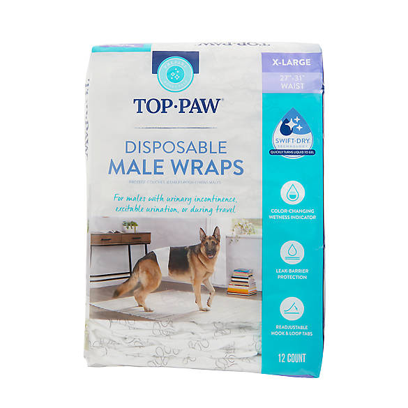 Top Paw Disposable Male Wrap Dog Diapers Dog Potty Training