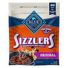 BLUE™ Sizzlers Dog Treat - Natural, Bacon
