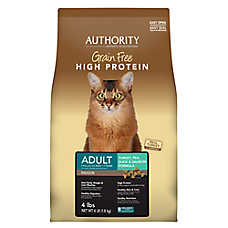 Authority® Indoor Adult Cat Food - Grain Free, High Protein, Turkey, Pea, Duck & Salmon