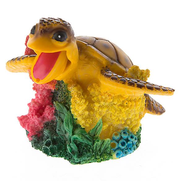Top fin turtle bubbler aquarium ornament fish ornaments for Petsmart fish decor